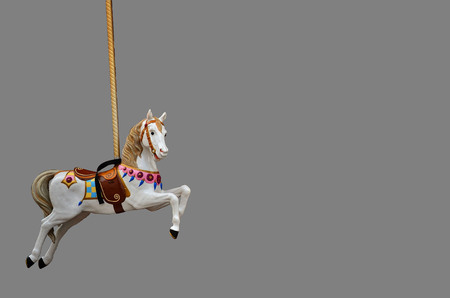 Carousel Horse on dark grey background