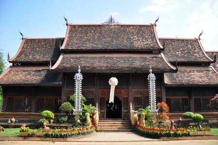 buddhist structures: temple of chaing mai