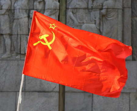 flag of the Soviet Union 版權商用圖片