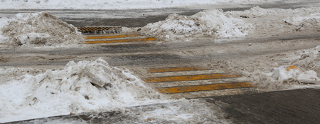 cleared of snow unregulated pedestrian crossing