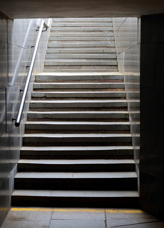A small narrow stone stairs Stok Fotoğraf