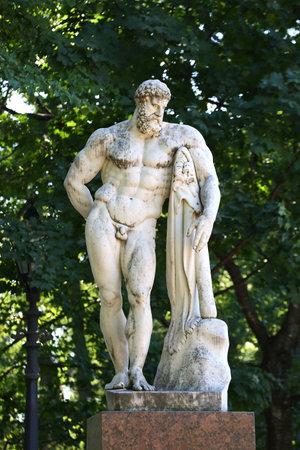 The Farnese Hercules, Aleksandrovskiy sad, Saint Petersburg, Russia, August 2018