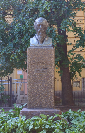 Russian poet Nikolay Nekrasov Liteinyi prospekt, Saint-Petersburg, Russia July 2018