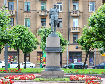 The monument to Marshal Govorov ploschad Stachek, Saint-Petersburg, Russia August 2018
