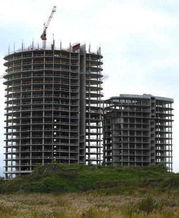 Residential building construction, Dalnevostochny prospect, Saint Petersburg, Russia September 2020