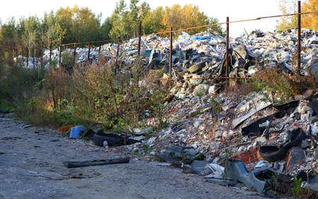 Large roadside dump of household waste