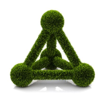conceptual symbol: conceptual symbol of ecological atom Stock Photo