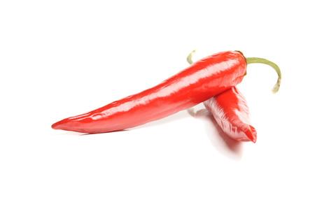 chiles picantes: primer aislado pimiento rojo vivo