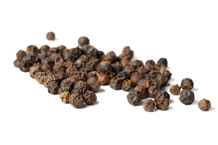 black seed: closeup background of  pepper seeds