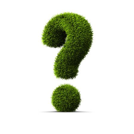 Concept van gras vraag teken