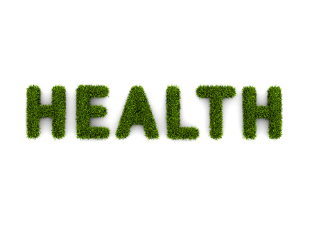 conceptual word health covered grass 免版税图像