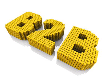 abbreviation: B2B business abbreviation with pixel effect on white background
