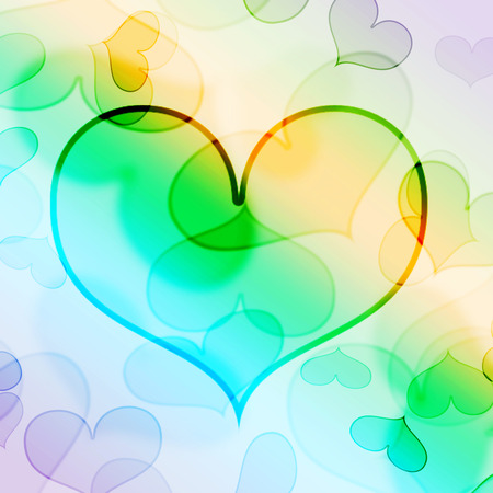 colorful heart: beautiful colorful heart shape background Stock Photo