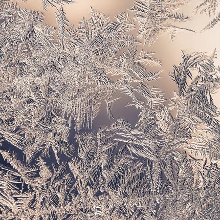 pane: Beautiful Closeup Winter Window Pane Coated Shiny Icy Frost Patterns