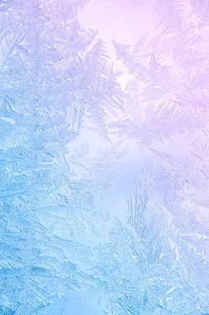icy: Beautiful Closeup Winter Window Pane Coated Shiny Icy Frost Patterns