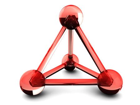isolated glass model of molecular lattice
