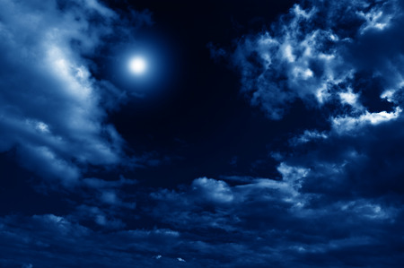 nightly: beautiful abstract nightly clouds landscape Stock Photo