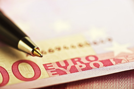 pen on the money euro