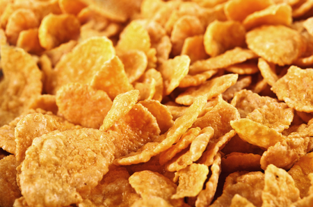 background of goldish corn flakes