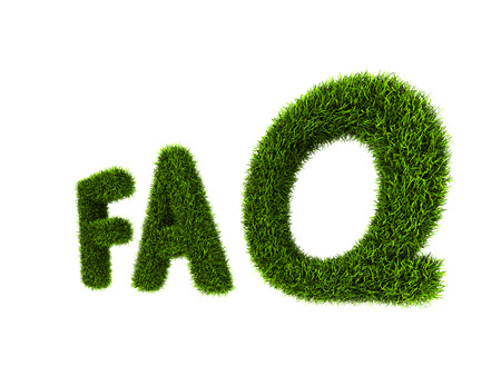 concept of Frequently Asked Question without shadow