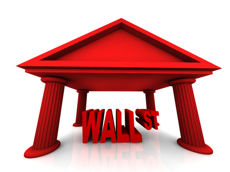 isolated 3d concept of Wall Street Stock Photo