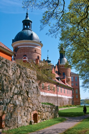 Gripsholm Castle from the park in early spring  Stock Photo
