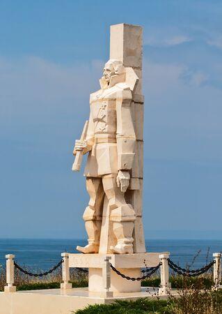 Monument to Admiral Ushakov at Cape Kaliakra