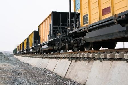 unloading of railway platforms for bulk materials
