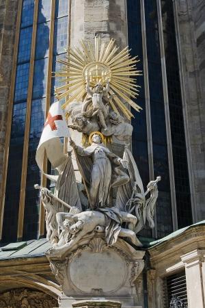 Chair of St  John of Capistrano  Vienna, St  Stephen Stock Photo - 15226596