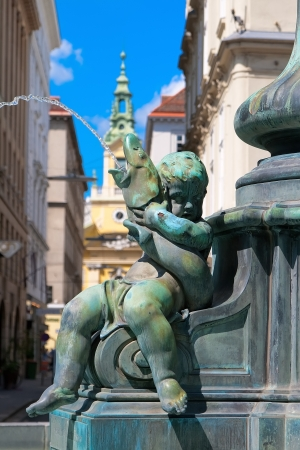 donner: Boy with a Fish, a fragment Donner Fountain in Vienna, Austria