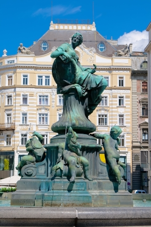 city   fountain  Providence  on the area of the new market in Vienna, Austria Stock fotó