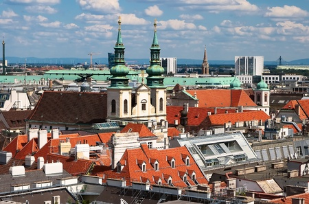 Vienna - city seen from the top of Stephansdom tower Stock Photo - 15401245