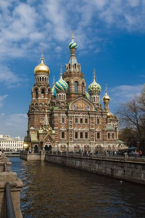 Spas-na-krovi cathedral in St Petersburg, Russia  photo