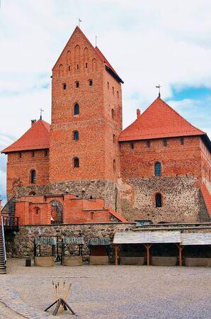 Red brick castle, a historical landmark in Trakai Stock Photo - 17356333