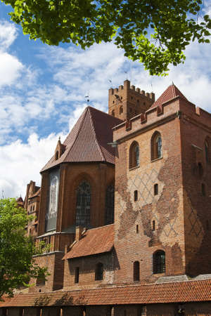 Church of the Blessed Virgin Mary in the Castle Malbork. Poland Stock Photo