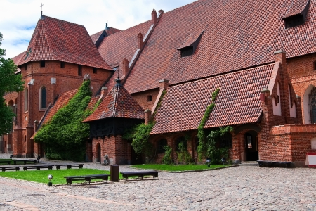 monastic site: Malbork castle courtyard  Large refectory and the palace chapel of St Catherine  Poland