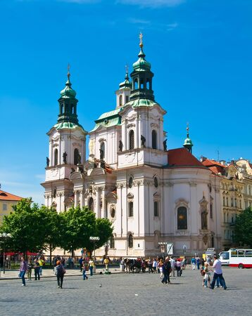 st nicholas cathedral: Cathedral of St  Nicholas in Old Town Square in Prague  Czech