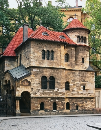 Old Jewish Synagogue in the Jewish Quarter of Prague Editorial