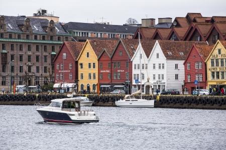 Historic Bryggen area in Bergen, Norway  A gateway to Norway Stock Photo - 20288736