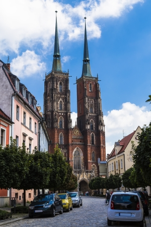 john the baptist: Cathedral of St  John Baptist  Wroclaw  Poland