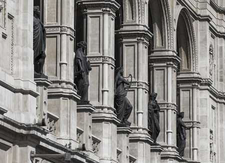 The statues on the facade of the theater in Vienna  Austria Stock Photo - 22608712