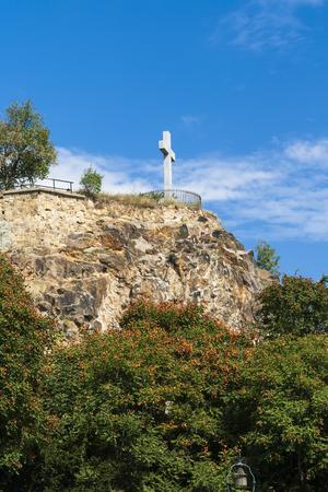 memorial cross: Croce commemorativa a Budapest in Ungheria