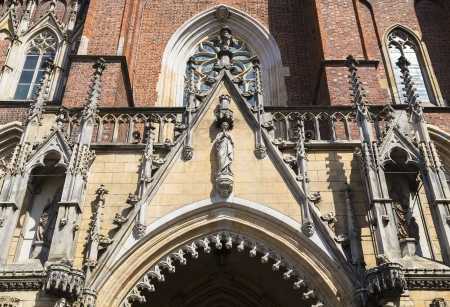 The central entrance to the Cathedral of Saint John the Baptist  Wroclaw  Poland