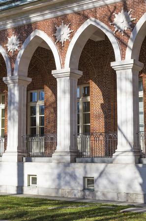 Detail of the balustrade at the palace Tsaritsyno Stock Photo - 23937753