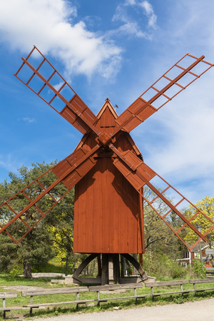 Old windmill in the park Stock Photo - 24393174
