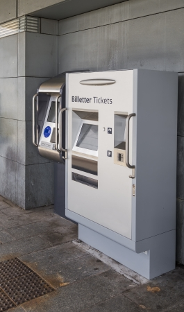 Automatic Ticket on the platform of a suburban station