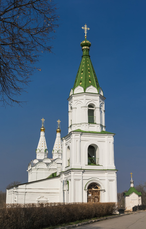 marquees: Church of the Holy Spirit - an architectural monument of the first half of the XVII century  Built in 1642 and is a rare example of the temple with two marquees  Ryazan  Editorial