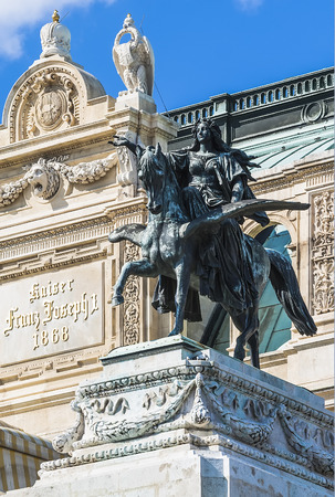 Detail of sculpture composition of the Vienne opera  Austria