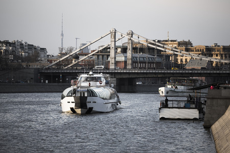Pleasure boat on the Moscow River photo