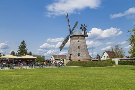 Old windmill in a small village